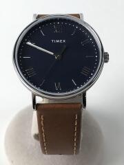 腕時計/アナログ/レザー/NVY