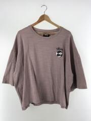 Tシャツ/M/コットン/PNK