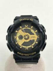 クォーツ腕時計・Baby-G/デジアナ/BLK