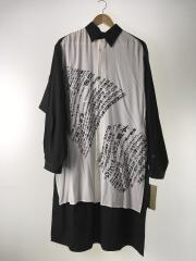 19SS/メッセージプリントスタッフシャツ/長袖シャツ/2/コットン/BLK/HH-B85-843