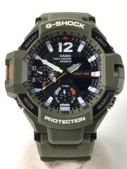 クォーツ腕時計・G-SHOCK/デジアナ/ラバー/BLK/KHK