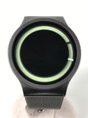 クォーツ腕時計/--/ステンレス/BLK/BLK