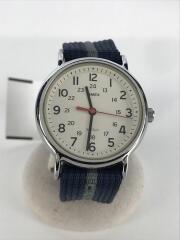 クォーツ腕時計/アナログ/--/WHT/NVY