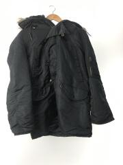 ミリタリージャケット/M/ナイロン/BLU/袖汚れ有り
