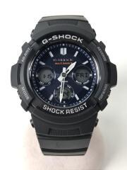 ソーラー腕時計・G-SHOCK/デジアナ/ラバー/BLK