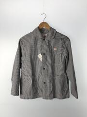 コットンポプリカンシャツ/長袖シャツ/36/コットン/BLK/ギンガムCK/18s-t84-002