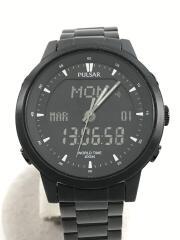 クォーツ腕時計/アナログ/ステンレス/BLK/N021-X016/940239