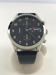 クォーツ腕時計/アナログ/レザー/NVY/VD57-KD20/5N1536/ベルト部分にダメージ