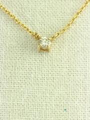 ゴールド/K18/総量1.3g/40cm/0.05ct