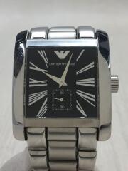 クォーツ腕時計/アナログ/ステンレス/BLK/SLV/AR-0181