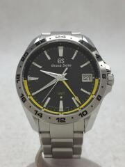 Grand Seiko/グランンドセイコー/クォーツ腕時計/アナログ/ステンレス/BLK/SLV