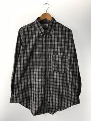 ネルシャツ/1/コットン/GRY/チェック