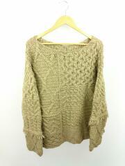 セーター(厚手)/19AW/FREE/ウール/KHK