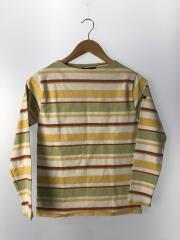 長袖Tシャツ/--/コットン/ボーダー