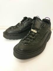 20ss/Concorde Leather/箱付/保存袋付/ローカットスニーカー/UK7.5/BLK/レザ