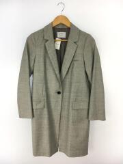 ロングチェスターコート/204153002/ジャケット/0/ウール/GRY/左袖汚れ有