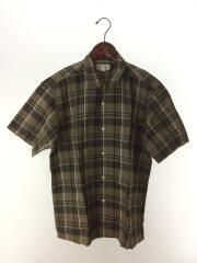 半袖シャツ/L/リネン/BRW/チェック