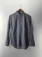 シャツ/M/コットン/BLU
