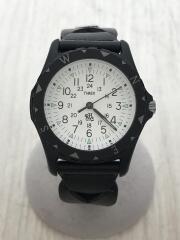 RHC×TIMEX×Safari Exclusive/クォーツ腕時計/アナログ/レザー/WHT/BLK