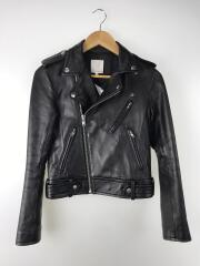 16AW/Leather Riders JACKET/38/羊革/BLK/無地