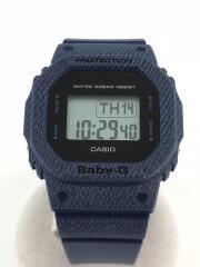 クォーツ腕時計・Baby-G/デジタル/ラバー/BLK/BLU
