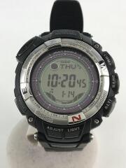ソーラー腕時計・PROTREK/デジタル/ラバー/SLV/BLK