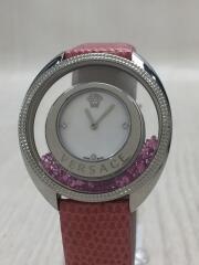 クォーツ腕時計/アナログ/--/WHT/PNK