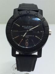 BB40CGLD/自動巻腕時計/腕時計/アナログ/レザー/黒/ブラック/ロゴ/日付