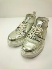 22860040/VIBE JEMIMA/マーチン/チャッカブーツ/ブーツ/シューズ/靴/シルバー/メタリック