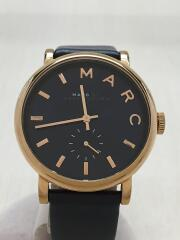 MBM1329/ベイカー/クォーツ腕時計/アナログ/レザー/紺/ネイビー/オフィス/カジュアル