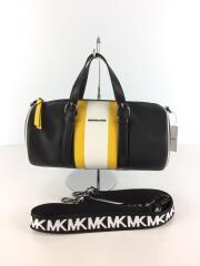 30H9UOCS7L/ショルダーバッグ/ハンドバッグ/2WAY/鞄/レザー/黒/黄色/ブラック