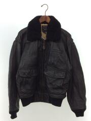G-1/レザージャケット/ブルゾン/D-TK9056/M/羊革/シープスキン/ブラック/黒/アウター