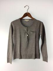 セーター(薄手)/ウール/グレー/灰/ニット/レディース/ボタン/ポケット