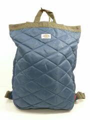 リュックサック型トートバッグ/ポリエステル/493702/キルティング/ネイビー/紺/ロゴ/鞄
