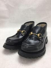 545280/2020年モデル/Leather Horsebit Loafer/ローファー/ブーツ/US5/黒