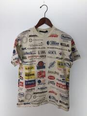 2019SS/オールオーバーロゴプリンテッドTシャツ/1A5DGH/XS/コットン/総柄/ホワイト/白
