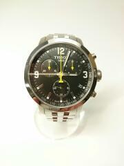 クォーツ腕時計/アナログ/20気圧防水/T055.417/クロノグラフ/ブラック/シルバー