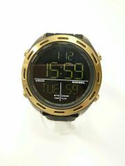 DZ-1901/CRUSHER/クラッシャークォーツ腕時計/デジタル/ラバー/黒/ブラック/ビジネス