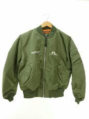 ×NIGOLD/MA-1/ボンバージャケット/フライトジャケット/アウター/L/ナイロン/カーキ/オレンジ