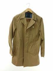 191120099/CL LONG COAT/コート/S/コットン/キャメル/アウター/上着/ロゴ/メンズ