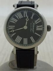 Hommage/クォーツ腕時計/アナログ/レザー/WHT/WHT