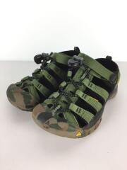 キッズ靴/18.5cm/サンダル/GRN