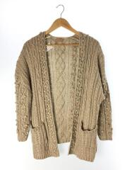 Aran Knit Cardigan/FREE/ナイロン/BEG/11820542