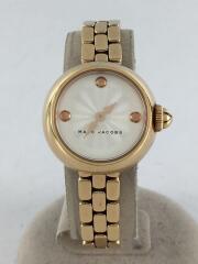 コートニー/クォーツ腕時計/アナログ/ステンレス/WHT/GLD/MJ3458