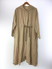 リネン混フーデッドコート/FREE/レーヨン/CRM/191-3517