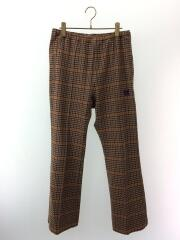 20AW/W.U.Boot-Cut Pant/Track Pant Houndstooth/S/裾毛羽立ち有