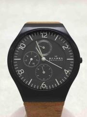 Grenen Multi-Function/クォーツ腕時計/アナログ/レザー/SKW6114