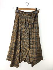ツイードヘムラインスカート/O/アクリル/BRW/09WFS182113