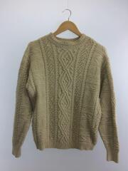 Vintage Aran Knit/セーター(厚手)/FREE/コットン/IVO/11920525