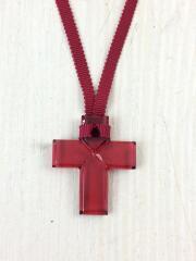 クロスネックレス/十字架/カラーストーン/RED/トップ有